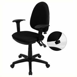 Scranton & Co Mid-Back Task Office Chair with Arms in Black