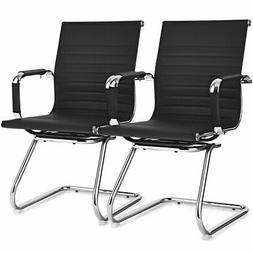 Set of 2 Office Guest Chairs Waiting Room Chairs for Recepti