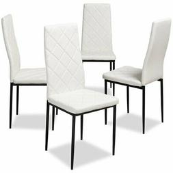 Baxton Studio Blaise White Faux Leather Dining Chair
