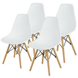 Set of 4 Mid Century Modern DSW Dining Side Chair Wood Legs