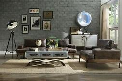 Acme Furniture Silchester Top Grain Leather Sofa and Chair
