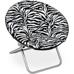 Soft Wide Seat Faux-Fur Saucer Chair, Foldable, Available in