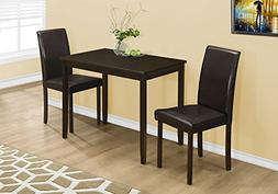 Monarch Specialties I 1015, Dining Set Set, Parson Chairs, C