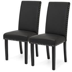 Best Choice Products Set of 2 Studded Faux Leather Parsons D