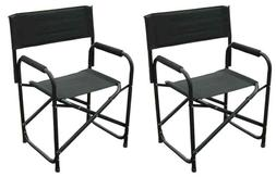 Tall Directors Chairs Black Aluminum Folding Chair Outdoor I