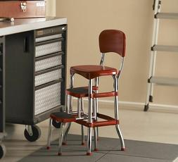 Two Step Stool 2 For Adults Cosco Red Retro Counter Chair Ki