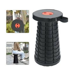 US Portable Chair Telescopic Folding Stool Collapsible for C