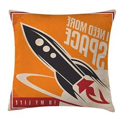 Ambesonne Vintage Decor Throw Pillow Cushion Cover by, Space