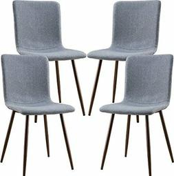 POLY & BARK EM-287-GRY-X4-A Wadsworth Dining Chair with Waln