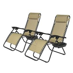 Zero Gravity Chairs Case Of  Tan Lounge Patio Chairs Outdoor